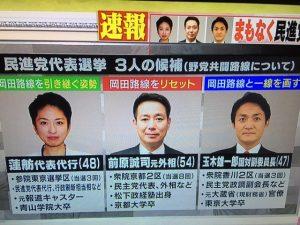民主党代表選立候補者の考え方!!
